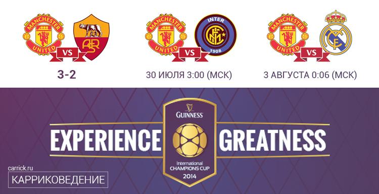 Расписание международного клуба чемпионов МЮ