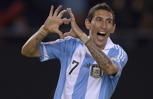 Argentina's midfielder Angel Di Maria ce