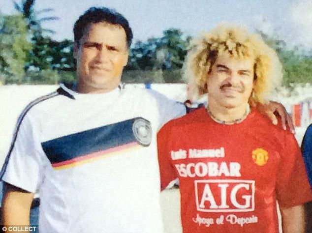 Радамель Гарсия - отец Фалькао (слева), легенда колумбийского футбола  Карлос Вальдеррама (справа)