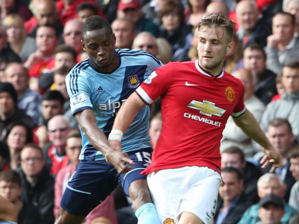 Luke-Shaw-of-Manchester-United-in-action-with-Diafra-Sakho-of-West-Ham