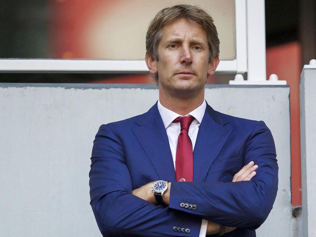 L R technical director Marc Overmars of Ajax commercial director Edwin van der Sar of Ajax during