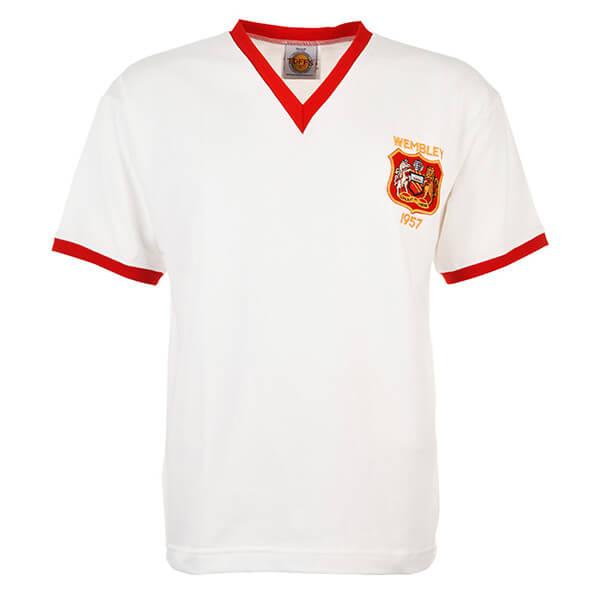 Форма «Манчестер Юнайтед» в финале Суперкубка Англии 1957 года. Тогда «Манчестер» разгромил «Астон Виллу» со счетом 4:0.