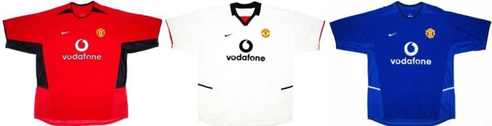 За спонсорским соглашением в 100 млн фунтов последовал первый комплект формы «МЮ», выпущенный фирмой Nike. В такой форме играл Дэвид Бекхэм в последнем сезоне за «Манчестер».