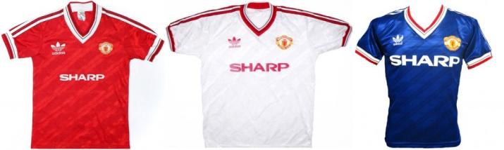 Именно в этой форме играл «Манчестер Юнайтед», когда в клуб пришел сэр Алекс Фергюсон.