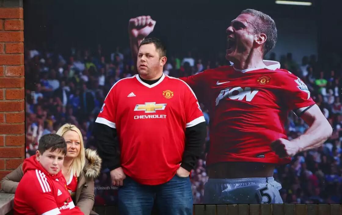 Болельщик «Юнайтед» перед матчем.