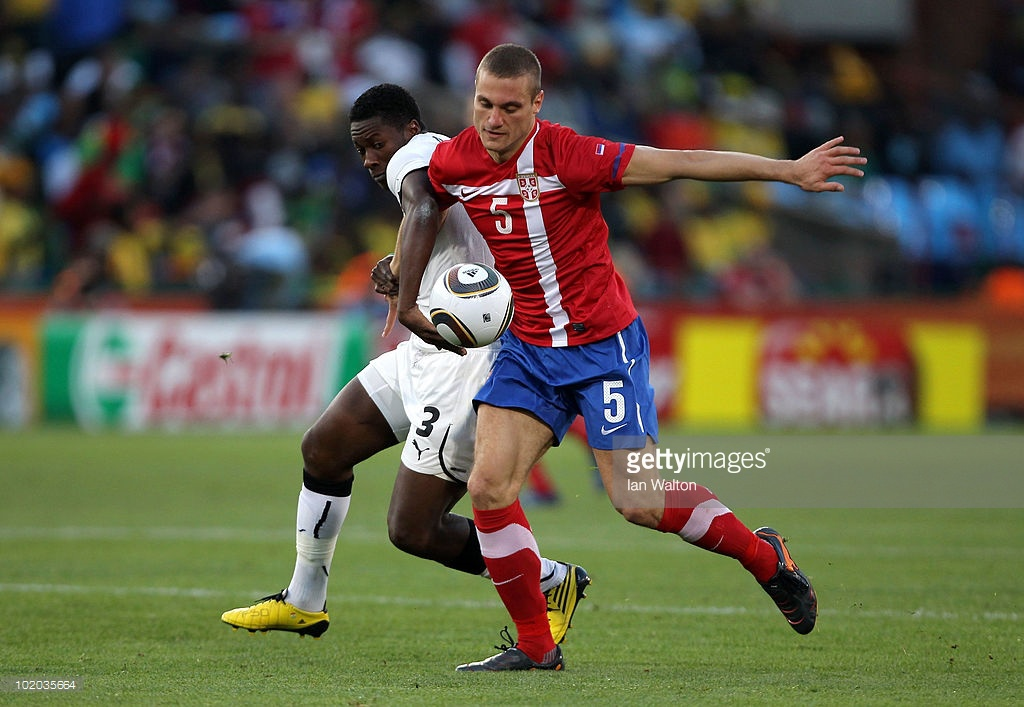 during the 2010 FIFA World Cup South Africa Group D match between Serbia and Ghana at Loftus Versfeld Stadium on June 13, 2010 in Pretoria, South Africa.