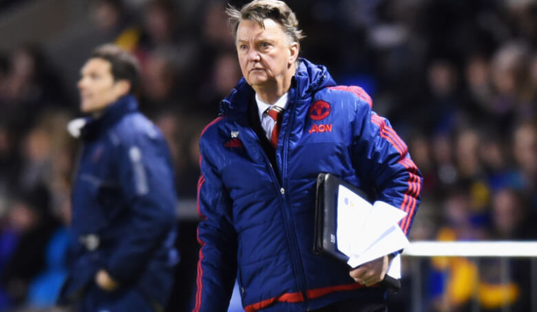 Louis van Gaal Photos - Shrewsbury Town v Manchester United - The Emirates FA Cup Fifth Round - Zimbio-28