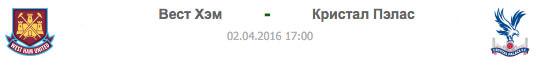 WES - CRY | Вест Хэм - Кристал Пэлас | Статистика матча-02