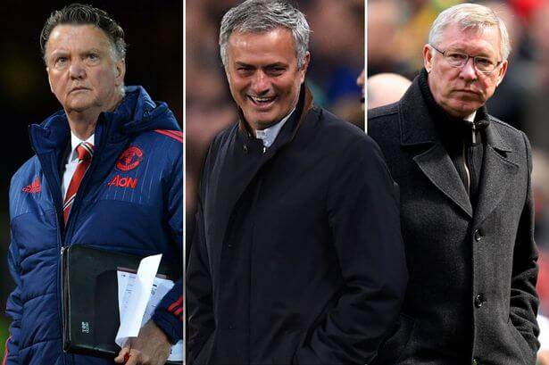 van-Gaal-Ferguson-dejected-Mourinho-laughing
