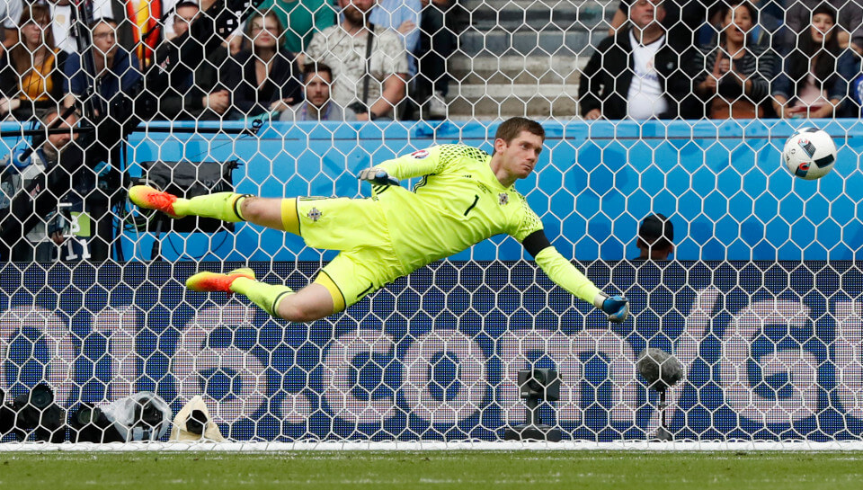 Football Soccer - Northern Ireland v Germany - EURO 2016 - Group C - Parc des Princes, Paris, France - 21/6/16 Northern Ireland's Michael McGovern in action REUTERS/Christian Hartmann Livepic