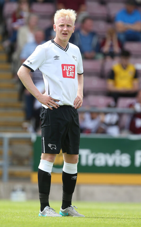 NORTHAMPTON, ENGLAND - JULY 18: Will Hughes of Derby County in action during the Pre-Season Friendly match between Northampton Town and Derby County at Sixfields Stadium on July 18, 2015 in Northampton, England. (Photo by Pete Norton/Getty Images)