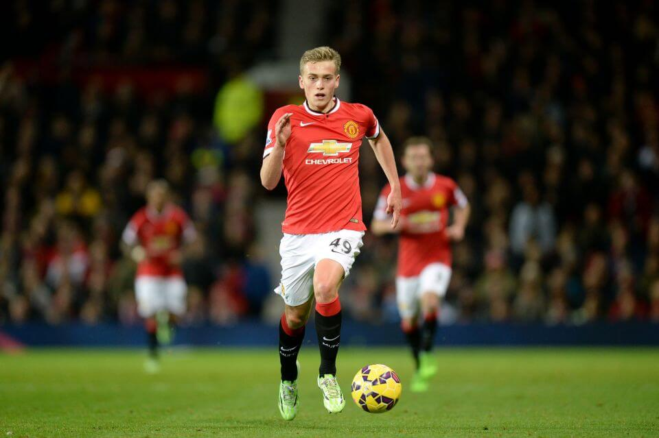 File photo dated 02-12-2014 of Manchester United's James Wilson PRESS ASSOCIATION Photo. Issue date: Thursday September 10, 2015. Derby head coach Paul Clement has confirmed he has enquired about Manchester United striker James Wilson. See PA story SOCCER Derby Wilson. Photo credit should read Martin Rickett/PA Wire. Editorial use only. Maximum 45 images during a match. No video emulation or promotion as 'live'. No use in games, competitions, merchandise, betting or single club/player services. No use with unofficial audio, video, data, fixtures or club/league logos.