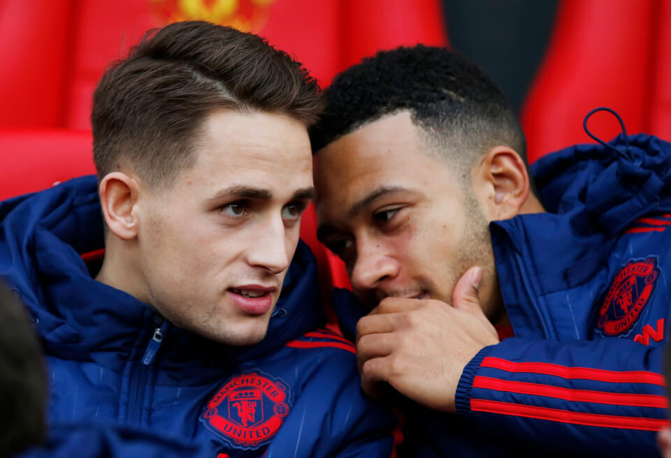 "Football Soccer - Manchester United v Southampton - Barclays Premier League - Old Trafford - 23/1/16 Manchester United's Adnan Januzaj and Memphis Depay on the bench before the match Reuters / Andrew Yates Livepic EDITORIAL USE ONLY. No use with unauthorized audio, video, data, fixture lists, club/league logos or ""live"" services. Online in-match use limited to 45 images, no video emulation. No use in betting, games or single club/league/player publications. Please contact your account representative for further details."