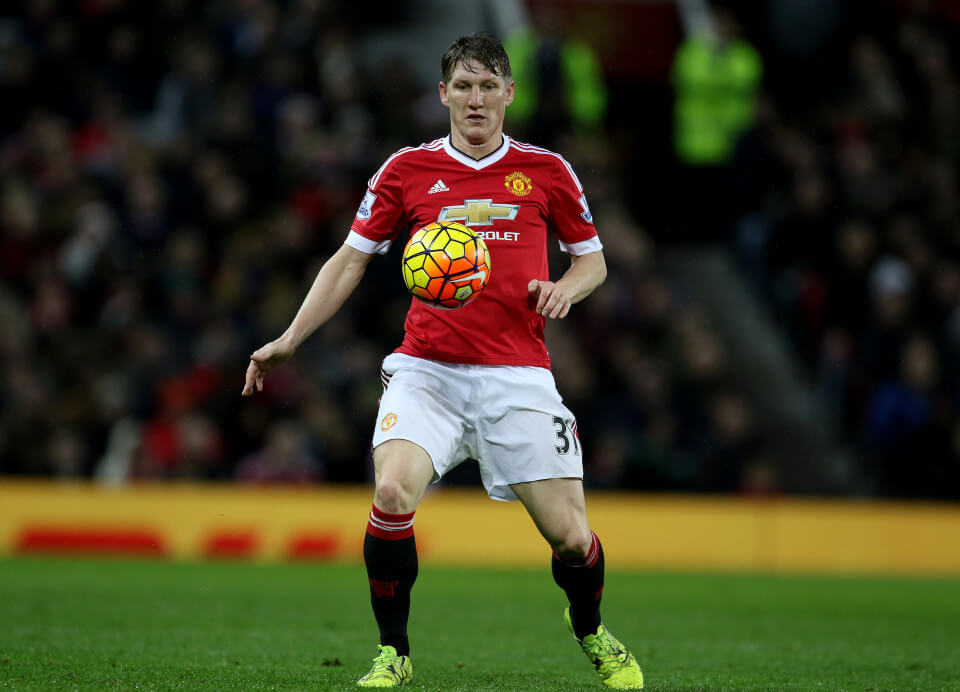 File Photo: Manchester United's Bastian Schweinsteiger will not play for the team for the rest of the season due to knee injury, manager Louis Van Gaal has confirmed. Manchester United's Bastian Schweinsteiger ... Manchester United v Swansea City - Barclays Premier League - Old Trafford ... 02-01-2016 ... Manchester ... United Kingdom ... Photo credit should read: Richard Sellers/EMPICS Sport. Unique Reference No. 25161628 ...