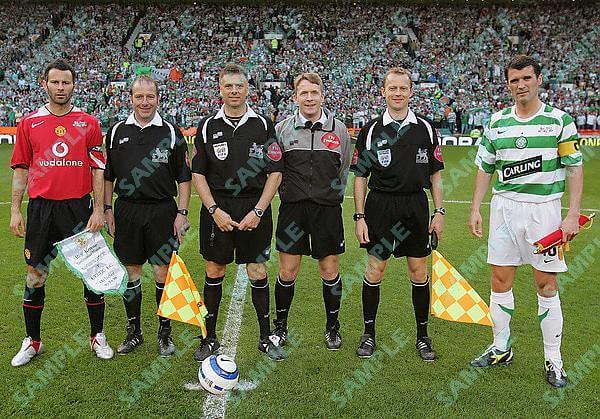 Roy Keane testimonial Manchester United v Celtic