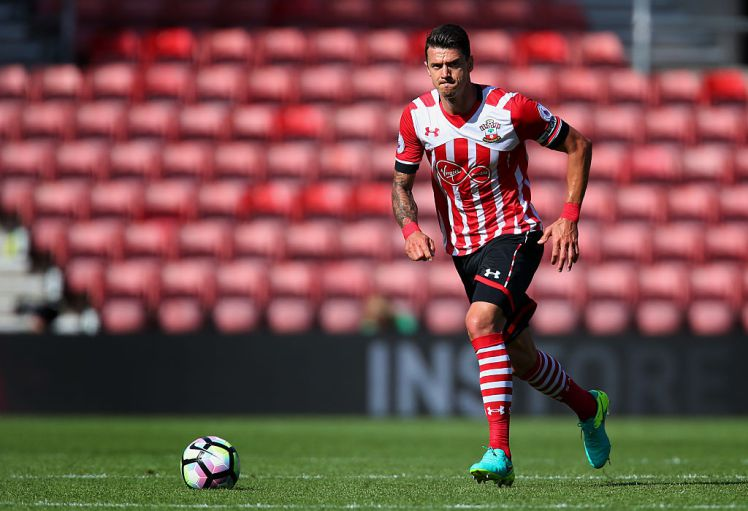 SOUTHAMPTON, ENGLAND - AUGUST 07: Jose Fonte of Southampton in action during the pre-season friendly between Southampton and Athletic Club Bilbao at St Mary's Stadium on August 7, 2016 in Southampton, England. (Photo by Jordan Mansfield/Getty Images)