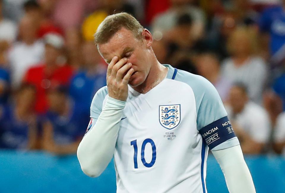 Football Soccer - England v Iceland - EURO 2016 - Round of 16 - Stade de Nice, Nice, France - 27/6/16 England's Wayne Rooney reacts REUTERS/Kai Pfaffenbach Livepic