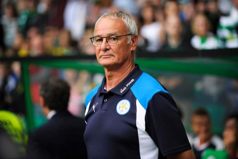 Leicester City's Italian manager Claudio Ranieri looks on ahead of the International Champions Cup football match between Scottish Premiership champions Celtic and English Premier League champions Leicester City at Celtic Park in Glasgow, Scotland on July 23, 2016. / AFP PHOTO / ANDY BUCHANANANDY BUCHANAN/AFP/Getty Images
