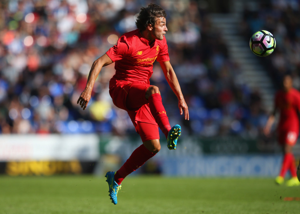 WIGAN, ENGLAND - JULY 17: Lazar Markovic of Liverpool controls the ball during a pre-season friendly between Wigan Athletic and Liverpool at JJB Stadium on July 17, 2016 in Wigan, England. (Photo by Alex Livesey/Getty Images)