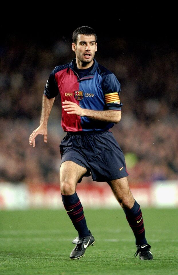 1 Mar 2000: Pep Guardiola of Barcelona during the UEFA Champions League group A match against Porto at the Nou Camp in Barcelona, Spain. Barcelona won 4-2. Mandatory Credit: Shaun Botterill /Allsport