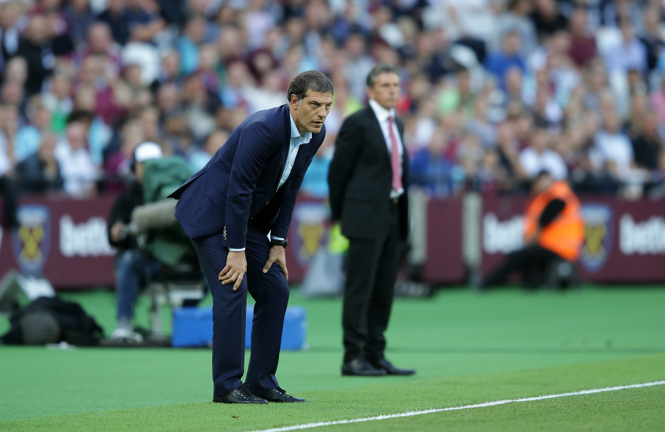 LONDON, UK, 25TH SEPTEMBER, 2016. Utd manager Slaven Bilic during the Premier League match between West Ham United and Southampton at Queen Elizabeth Olympic Park, London, United Kingdom on 25 September 2016. Photo by Robin Jones/Digital South.