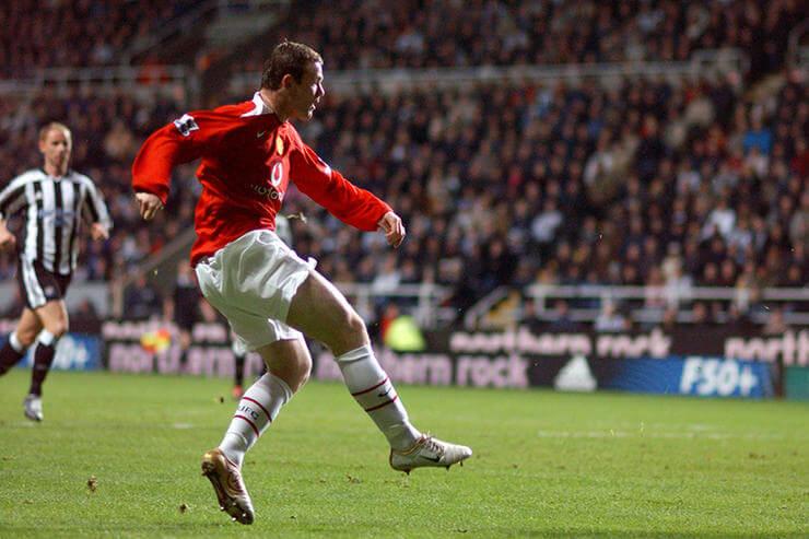 Дубль «Ньюкаслу», первые выездные голы за «Юнайтед». 14.11.2004