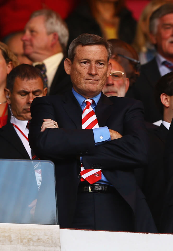 SUNDERLAND, ENGLAND - SEPTEMBER 29: Ellis Short, owner of Sunderland FC looks on during the Barclays Premier League match between Sunderland and Liverpool at the Stadium of Light on September 29, 2013 in Sunderland, England. (Photo by Matthew Lewis/Getty Images)