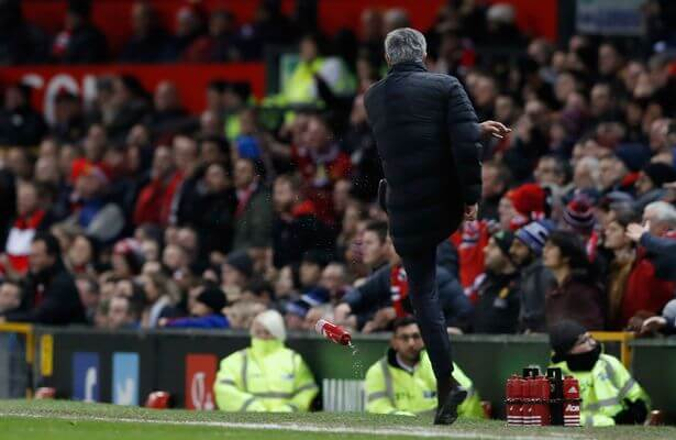manchester-united-manager-jose-mourinho-kicks-a-water-bottle