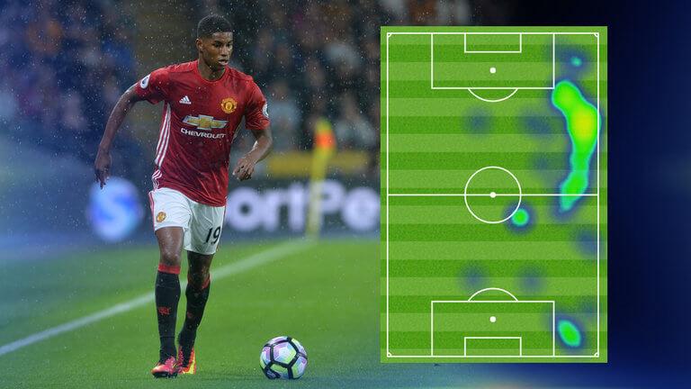 Тепловая карта Маркуса в матче против «Ливерпуля»